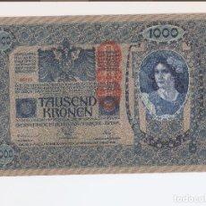 Billetes extranjeros: PRECIOSO BILLETE DE1000 KRONEN DE 1902 EL DE LAS FOTOS VER LA CALIDAD DEL BILLET. Lote 127903299