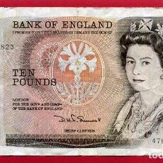 Billetes extranjeros: BILLETE ENGLAND , INGLATERRA , 10 TEN POUNDS LIBRAS , MBC , ORIGINAL , T823. Lote 128036643