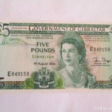 Billetes extranjeros: GIBRALTAR * 5 LIBRAS SERIE 1988 E * PLANCHA. Lote 128055335