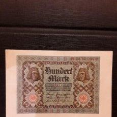 Billetes extranjeros: ALEMANIA 100 MARCOS 1920 PICK 69B MBC+. Lote 128080535