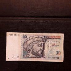 Billetes extranjeros: TÚNEZ 10 DINARES 1994 PICK 87 MBC. Lote 128088763
