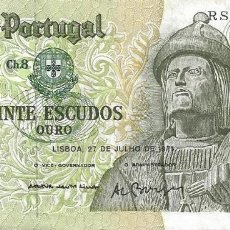 Billetes extranjeros: BILLETE 20 ESCUDOS, PORTUGAL 1971. Lote 175306789