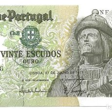 Billetes extranjeros: BILLETE 20 ESCUDOS, PORTUGAL 1971. Lote 128104199