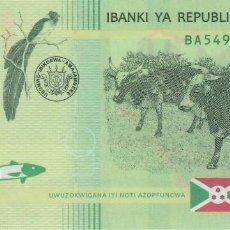 Billetes extranjeros: BURUNDI 1.000 FRANCS 2015. Lote 128321399