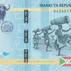 Billetes extranjeros: BURUNDI 5.000 FRANCS 2015. Lote 128321667