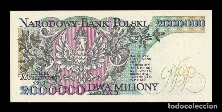 2,000,000 P-158a 1992 Zlotych UNC Poland 2000000