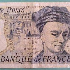Billetes extranjeros: BILLETE 50 FRANCOS FRANCESES EMISION 1988 MAURICE QUENTIN DE LA TOUR. Lote 128435971