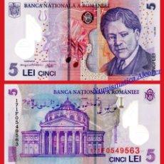 Billetes extranjeros: RUMANIA 5 LEI 2005 2017 POLÍMERO PICK 118H SC. Lote 129002763