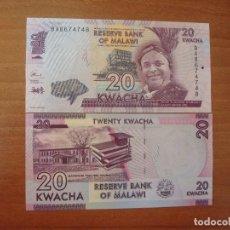Billetes extranjeros: BILLETE DE MALAWI. 20 KWACHA 2016. SC-UNC. Lote 152500460