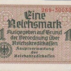 Billetes extranjeros: BILLETES - GERMANY-ALEMANIA - 1 REICHSMARK - 1940-45. - SERIE 269-300312 - R-136A (SC). Lote 179382163