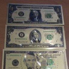 Billetes extranjeros: 6 BILLETES ESTADOS UNIDOS ORO VALORES DESDE 2 DÓLAR A 100 DÓLARES. Lote 130173226