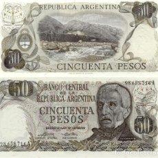 Billetes extranjeros: ARGENTINA 50 PESO 1974-75 UNC P-296. Lote 194288577