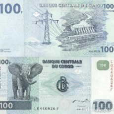 Billetes extranjeros: CONGO 100 FRANC 2000-2007 UNC P-92. Lote 194287855