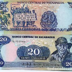 Billetes extranjeros: NICARAGUA 20 CORDOBA 1985 UNC P-152. Lote 194288127