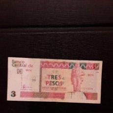 Billetes extranjeros: CUBA 3 PESOS CONVERTIBLES 2006 PICK FX47 MBC- SOBRESCRITO EN ANVERSO. Lote 130433990