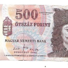 Billetes extranjeros: HUNGRIA 500 FORINT 2008. Lote 130520158