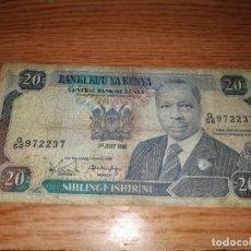 Billetes extranjeros: 20 SHILINGI ISHIRINI KENYA (1990). Lote 130524838