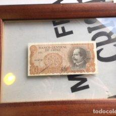 Billetes extranjeros: BILLETE DE 10 ESCUDOS CHILE. ENMARCADO. Lote 130760384