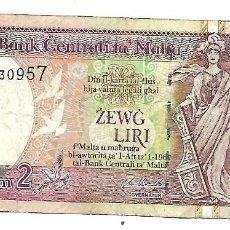 Billetes extranjeros: MALTA 2 LIRI (2 LIRAS) 1994 PICK 45D. Lote 130796748