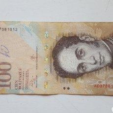 Billetes extranjeros: VENEZUELA 100 BOLIVARES 2013. Lote 130822476