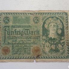 Billetes extranjeros: ALEMANIA 50 MARCOS 1920. Lote 130826220