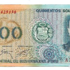 Billetes extranjeros: PERU 500 SOLES ORO 1976. Lote 130826404
