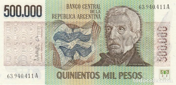 ARGENTINA 500,000 500000 PESOS 1980 P 309 UNC