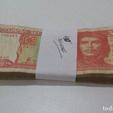 Billetes extranjeros: ¡¡ OFERTA !! LOTE DE 40 BILLETES DE 3 PESOS DE CUBA CHÉ GUEVARA 2004. Lote 132564763
