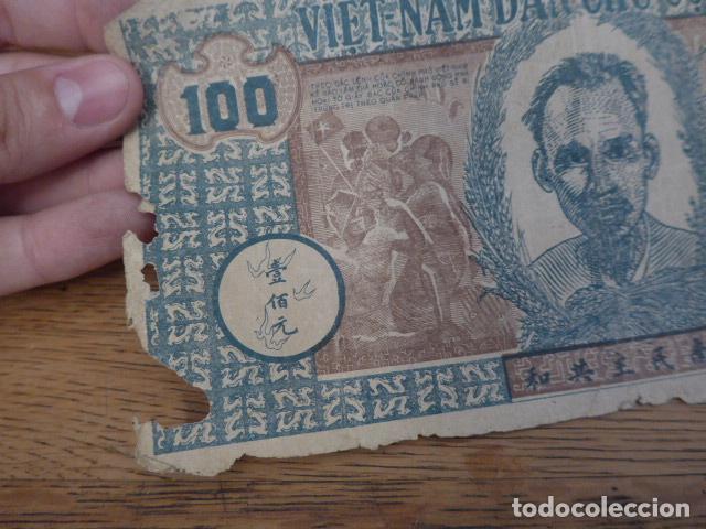 Billetes extranjeros: Antiguo gran billete de vietnam, original - Foto 2 - 131405226