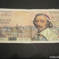 Billetes extranjeros: BILLETE DE 1000 FRANCOS DE FRANCIA BUENA CONSERVACIÓN. Lote 132508242