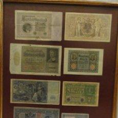 Billetes extranjeros: 8 BILLETES ENMARCADOS. Lote 132644342