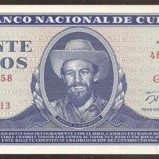 Notas Internacionais: CUBA. 20 PESOS 1990. S/C. PICK 105D.. Lote 132947185