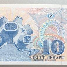 Billetes extranjeros: MACEDONIA. 10 DINARES. Lote 147555213
