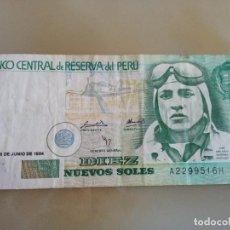 Notas Internacionais: BILLETE DE 10 NUEVOS SOLES DEL PERÚ. Lote 133672954