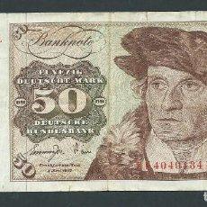 Billetes extranjeros: BILLETE 50 MARCOS AÑO 1977 ALEMANIA FÜNFZIG DEUTSHE MARK KF. Lote 134048706