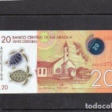 Billetes extranjeros: NICARAGUA 2014, 20 CORDOBAS, POLIMERO, P-211, SC-UNC, 2 ESCANER. Lote 134064986