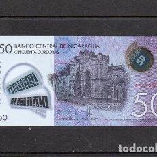 Billetes extranjeros: NICARAGUA 2014, 50 CORDOBAS, POLIMERO, P-212, SC-UNC, 2 ESCANER. Lote 134065050