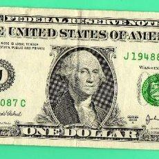 Billetes extranjeros: BILLETE 1 DOLAR EEUU AÑO 2003 , LETRA J, BANK OF KANSAS CITY ,. Lote 134230278