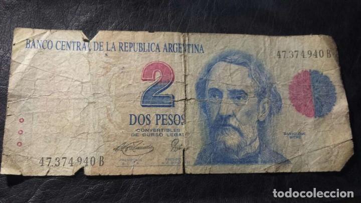 2 PESOS ARGENTINOS SERIE B (Numismática - Notafilia - Billetes Extranjeros)
