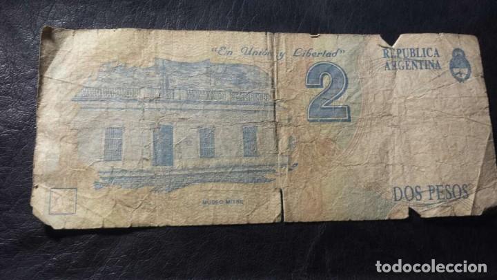 Billetes extranjeros: 2 pesos argentinos serie B - Foto 2 - 134332638