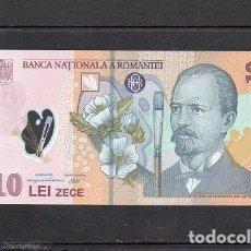 Banconote internazionali: RUMANIA 2011, 10 LEI, POLIMERO, P-119G, SC-UNC, 2 ESCANER. Lote 134824550