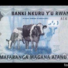 Billetes extranjeros: RUANDA RWANDA 500 FRANCOS 2013 PICK 38 SC UNC. Lote 255939125