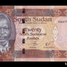 Banconote internazionali: SOUTH SUDAN DEL SUR 20 POUNDS 2017 PICK 13C SC UNC. Lote 203812478