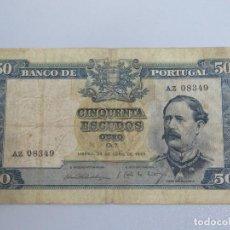 Billetes extranjeros: BILLETE 50 ESCUEDOS. CINQUENTA. PORTUGAL. 1953. Lote 135615082