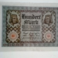 Billetes extranjeros: BILLETE ALEMANIA. 100 MARCOS. 1920. Lote 135889326