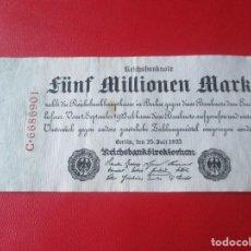 Billetes extranjeros: ALEMANIA. BILLETE DE 5 MILLONES DE MARCOS. 1923. Lote 136104082