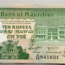 Billetes extranjeros - Mauritius. 10 Rupias - 136105384