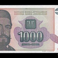 Banconote internazionali: YUGOSLAVIA 1000 DINARA 1994 PICK 140 PETAR II PRÍNCIPE OBISPO DE MONTENEGRO SC UNC. Lote 243552610