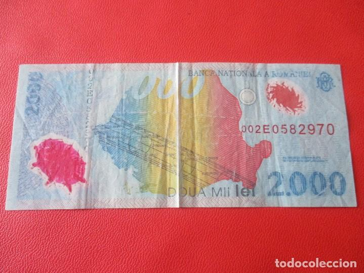 Billetes extranjeros: Rumania. billete de 2000 lei. - Foto 2 - 136279558