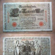 Billetes extranjeros: BILLETE DE ALEMANIA IMPERIO 1000 MARCOS 1910 SELLO ROJO REICHBANKNOTE. Lote 137526626